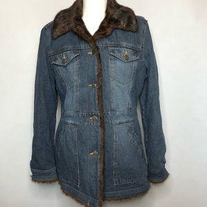 Marvin Richards Faux fur denim jacket